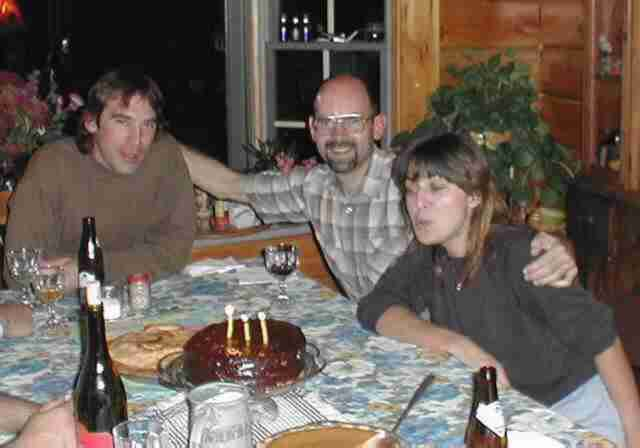Birthday celebration - Ken, Ray, Gina